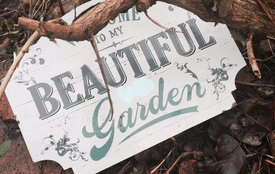 Margie's Garden Sign
