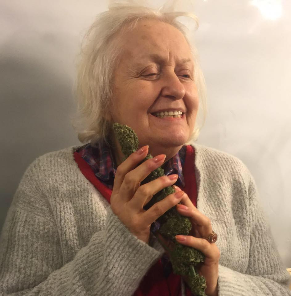 Margie with weed