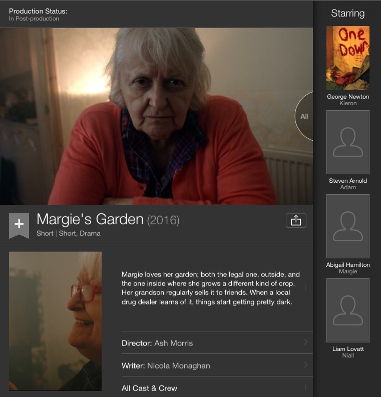 IMDB iPad app screenshot